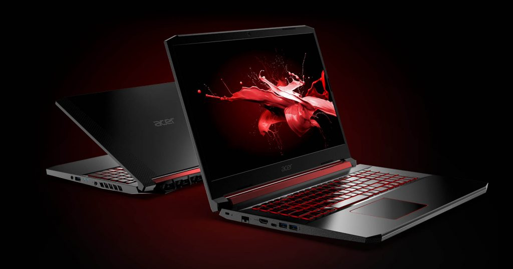 Acer Nitro 5 front and back view