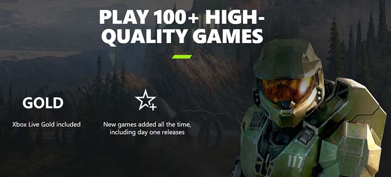 xbox game pass 100+ games poster