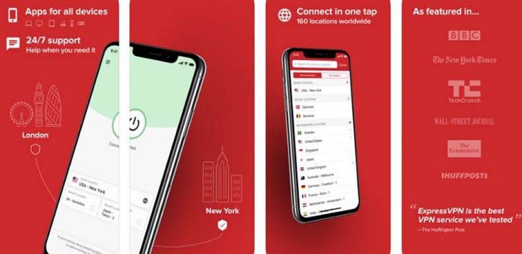 express VPN app store screenshots