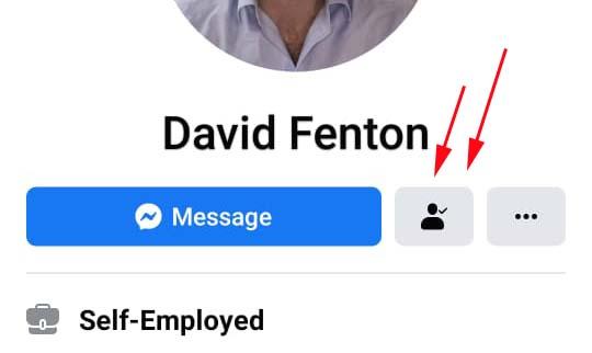 suggest facebook friend on smartphone