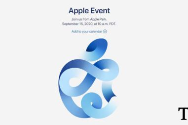 Apple's Virtual Only 'Time Flies' Event will be on September 15th.